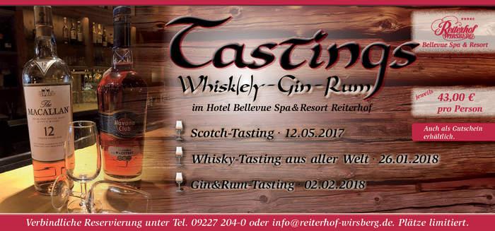Tastings Whisky Scotch Gin