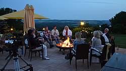 Abendstimmung Terrasse Hotel Reiterhof
