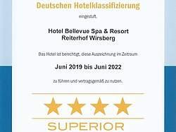 4 Sterne Superior Hotelklassifizierung