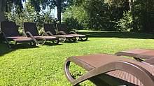 Außenbereich Sauna Schwimmbad